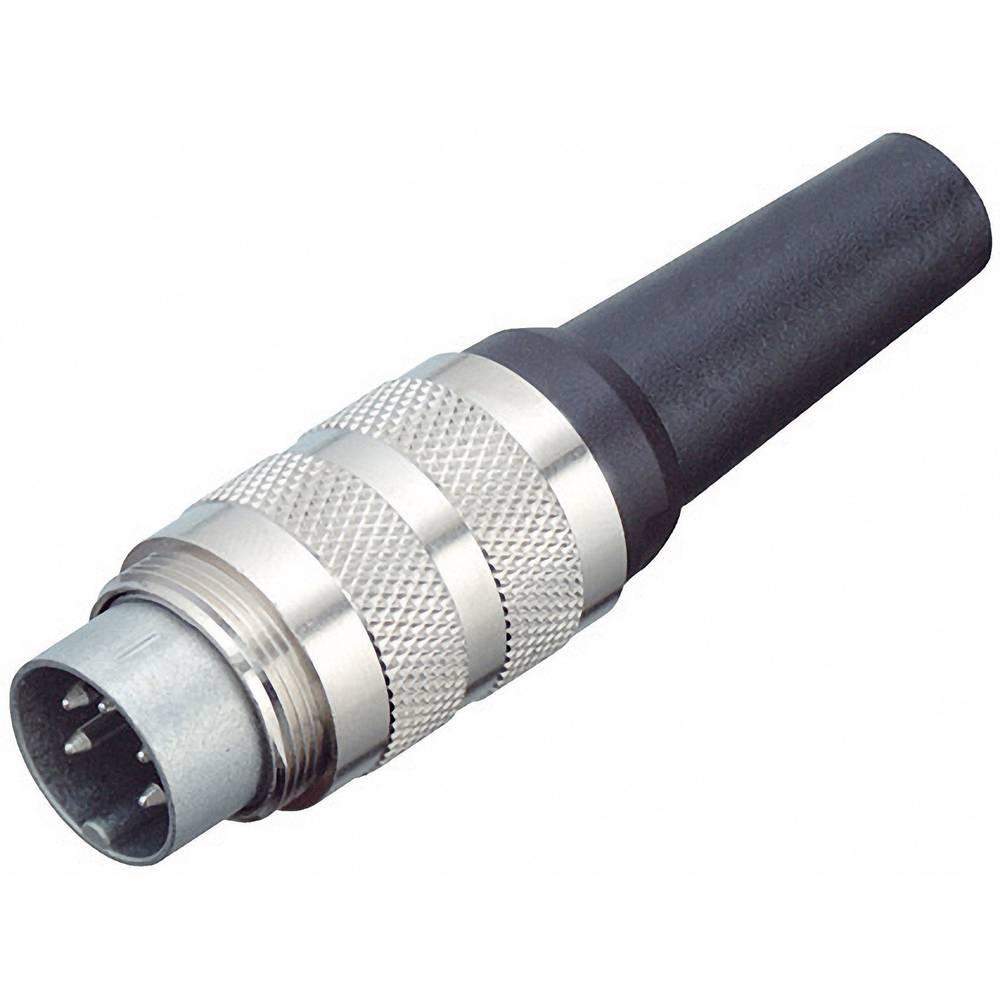 Moški konektor za kabel Binder 99-2009-02-04, spajkalno ušesce, možen oklop, 6 A, poli: 4