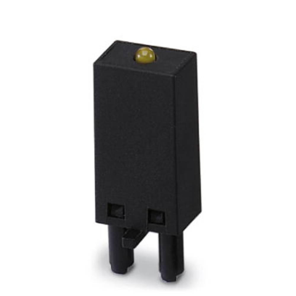 Steckmodul (value.1292944) med LED, Med friløbsdiode 10 stk Phoenix Contact LDM- 12- 24DC Lysfarve: Gul Passer til serie: Siemen