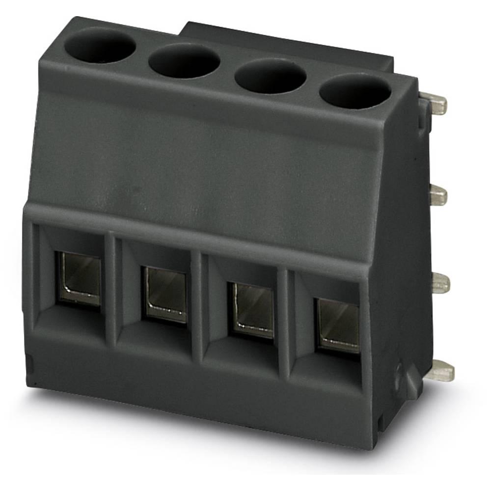 Skrueklemmeblok Phoenix Contact MKDSO 2,5/ 4-R BK VPE200 2.50 mm² Poltal 4 Black 200 stk