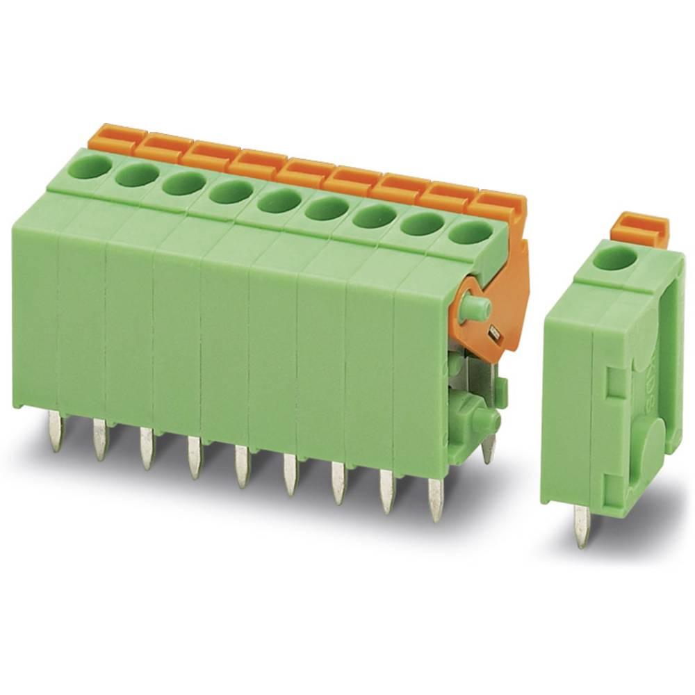 Fjederkraftsklemmeblok Phoenix Contact FFKDSA1/V-3,81- 9 1.00 mm² Poltal 9 Grøn 50 stk