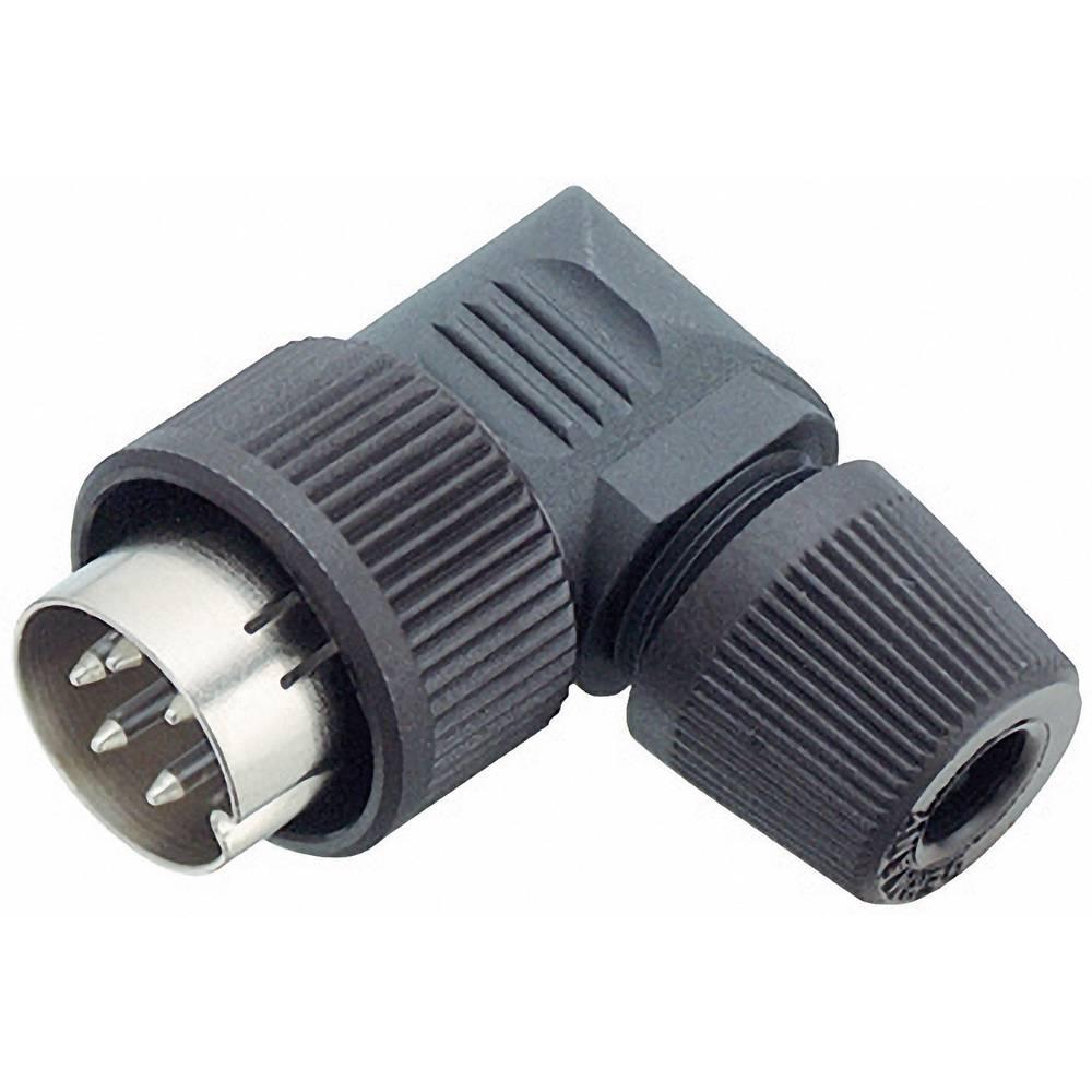 Mini okrogli konektor Binder serije 678, 99-0605-70-03, nazivni tok: 7 A, poli: 3, 1 kos