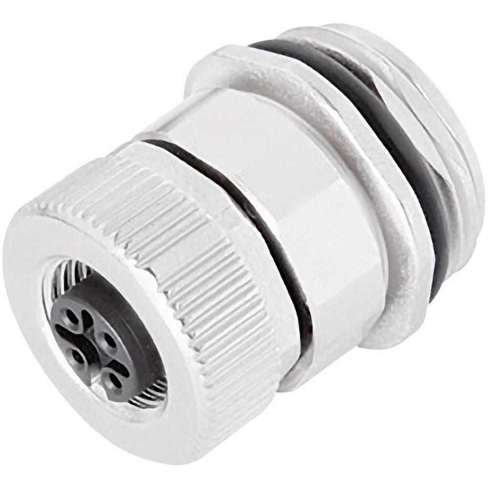 M12 prirobni vtični konektor, z vijačnimi kontakti serije 713 poli: 5 prirobna vtičnica 8 A 99-0434-500-05 Binder 1 kos