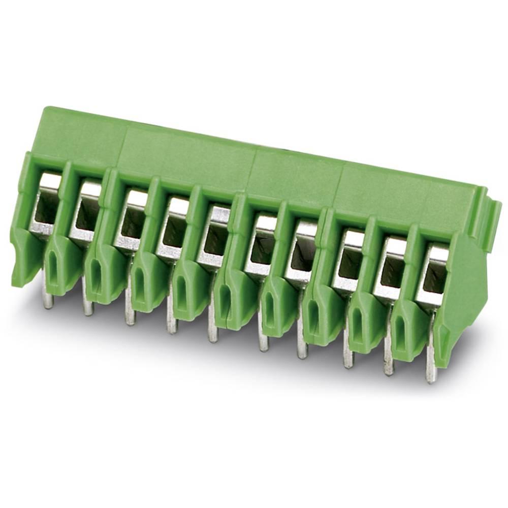 Skrueklemmeblok Phoenix Contact FRONT 2,5-V/SA 5/ 6 BK GES.KLK 2.50 mm² Poltal 6 Grøn 10 stk