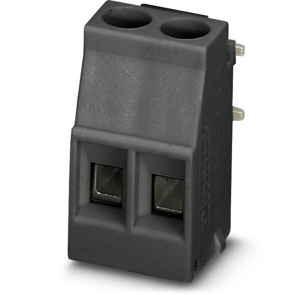 Skrueklemmeblok Phoenix Contact MKDSO 2,5/ 2-R BK VPE200 2.50 mm² Poltal 2 Sort 200 stk
