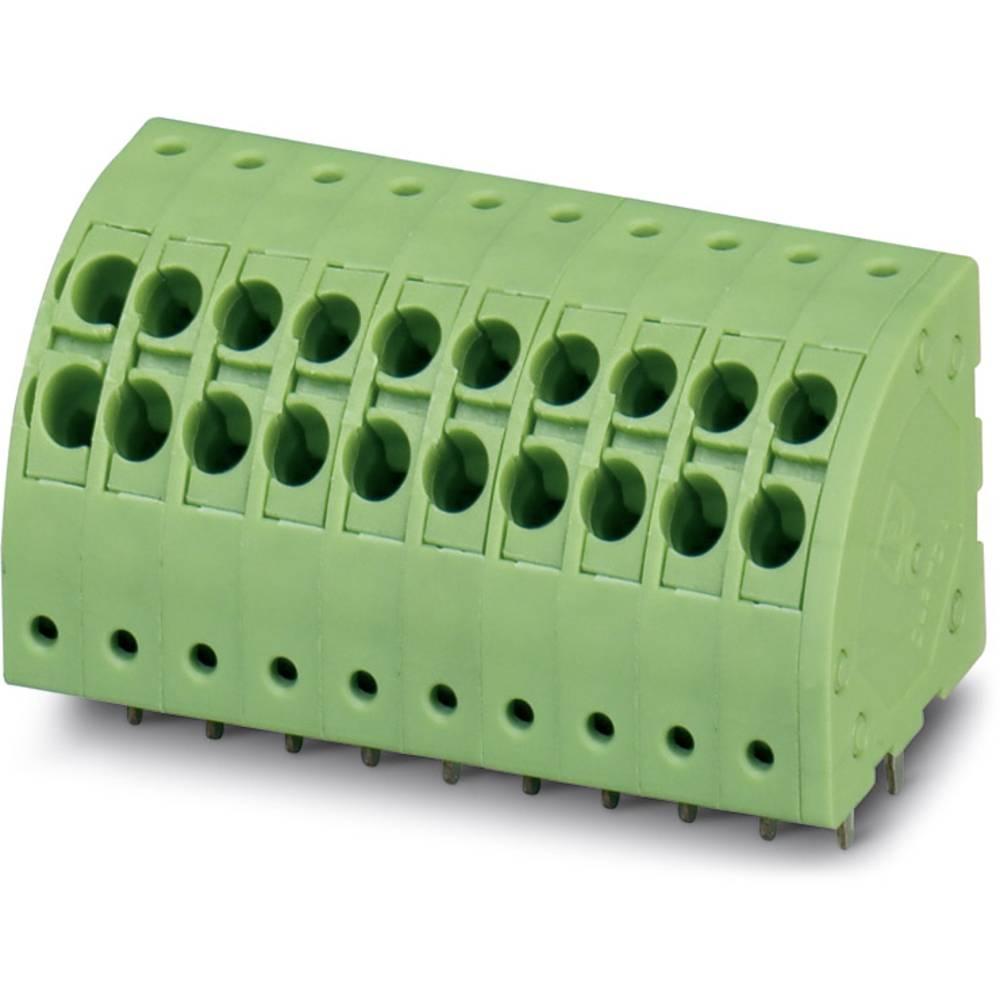 Fjederkraftsklemmeblok Phoenix Contact PTDA 1,5/ 3-3,5 1.50 mm² Poltal 3 Grøn 50 stk