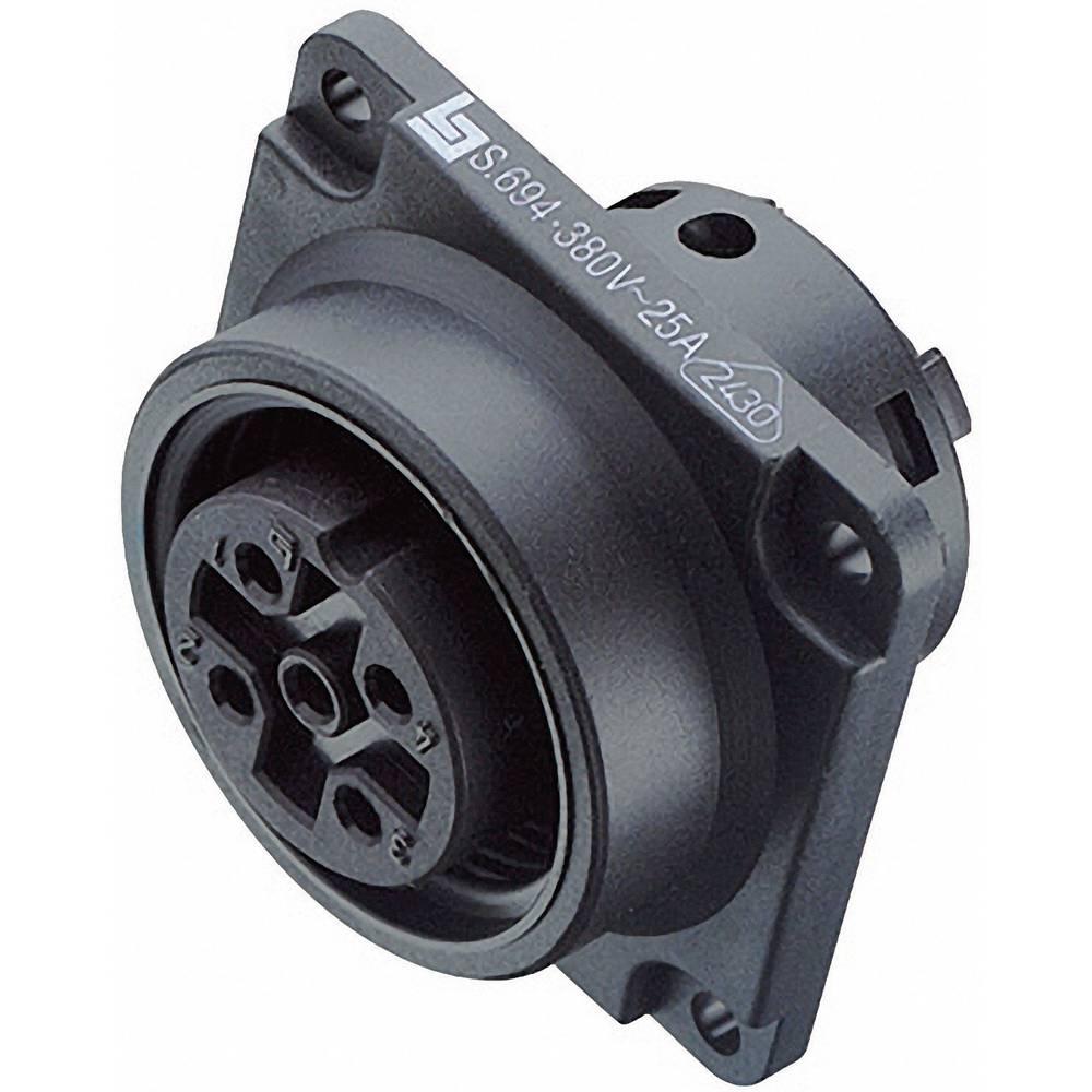Močnostni okrogli konektor Binder serije 694, 99-0740-00-24, nazivni tok: 3 A, poli: 24