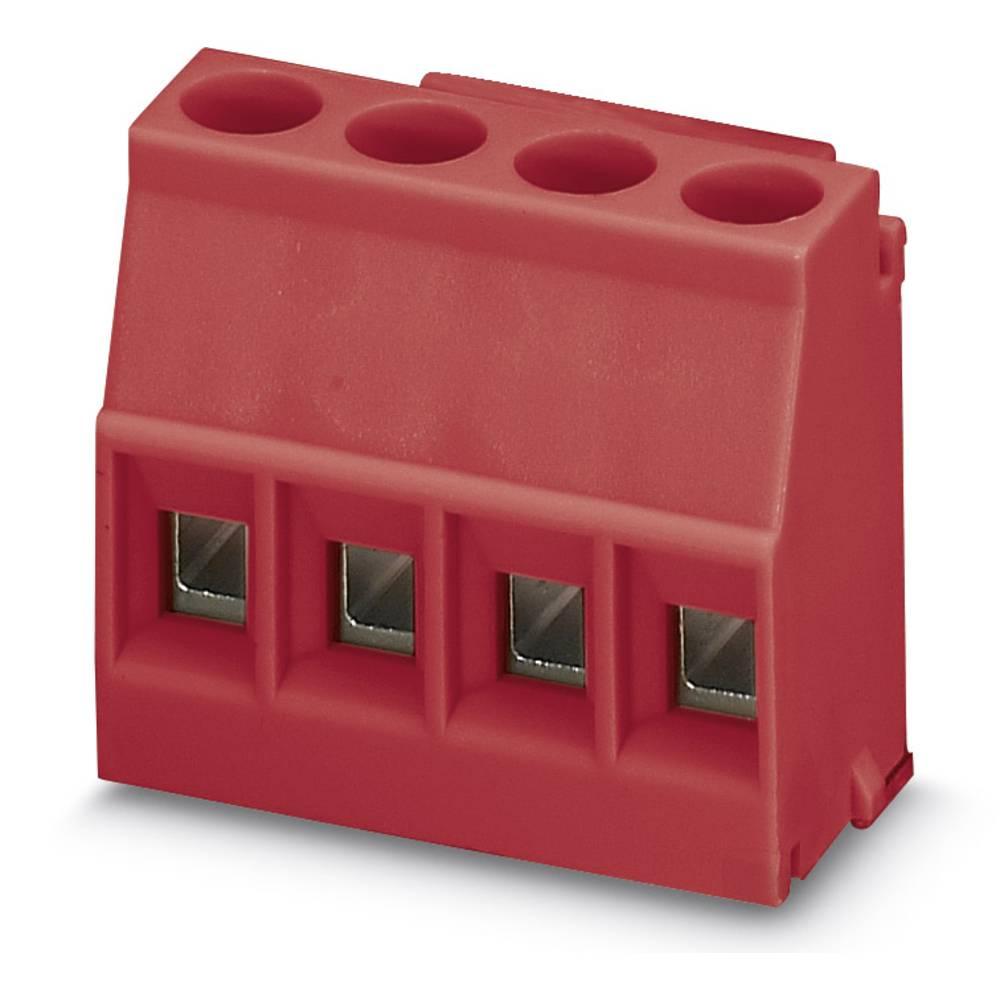 Skrueklemmeblok Phoenix Contact MKDSO 2,5/ 4-L RD 2.50 mm² Poltal 4 Rød 50 stk