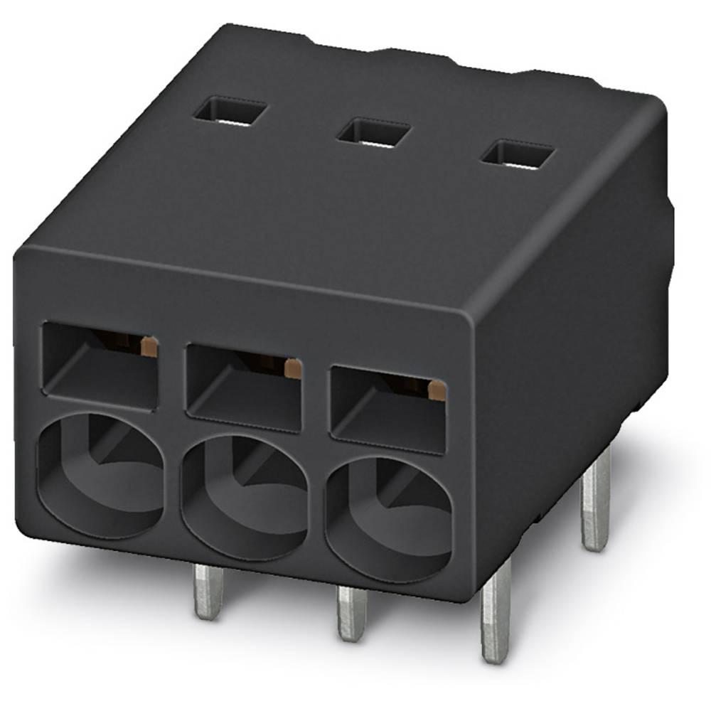 Fjederkraftsklemmeblok Phoenix Contact PTSM 0,5/ 2-2,5-H THR R24 0.50 mm² Poltal 2 Black 530 stk
