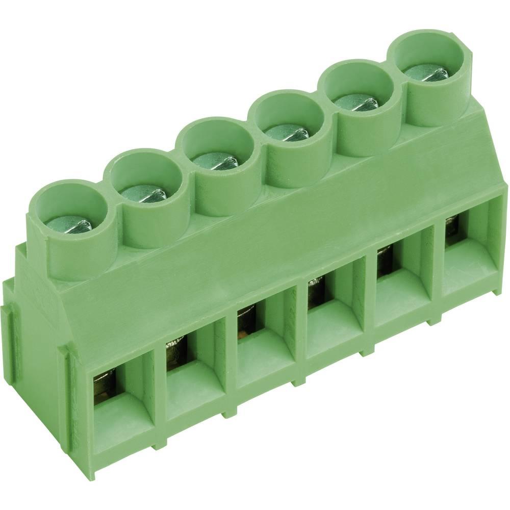 Skrueklemmeblok PTR AKZ840/2-6.35-V 4.00 mm² Poltal 2 Grøn 1 stk