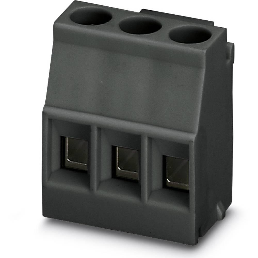 Skrueklemmeblok Phoenix Contact MKDSO 2,5/ 3-L BK 2.50 mm² Poltal 3 Sort 50 stk