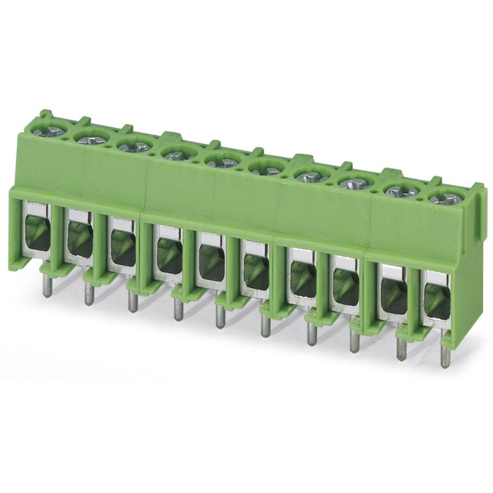Skrueklemmeblok Phoenix Contact PT 2,5/16-5,0-H 4.00 mm² Poltal 16 Grøn 50 stk