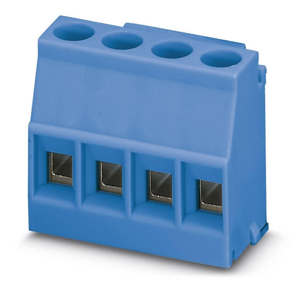 Skrueklemmeblok Phoenix Contact MKDSO 2,5/ 4-L BU 2.50 mm² Poltal 4 Blå 50 stk