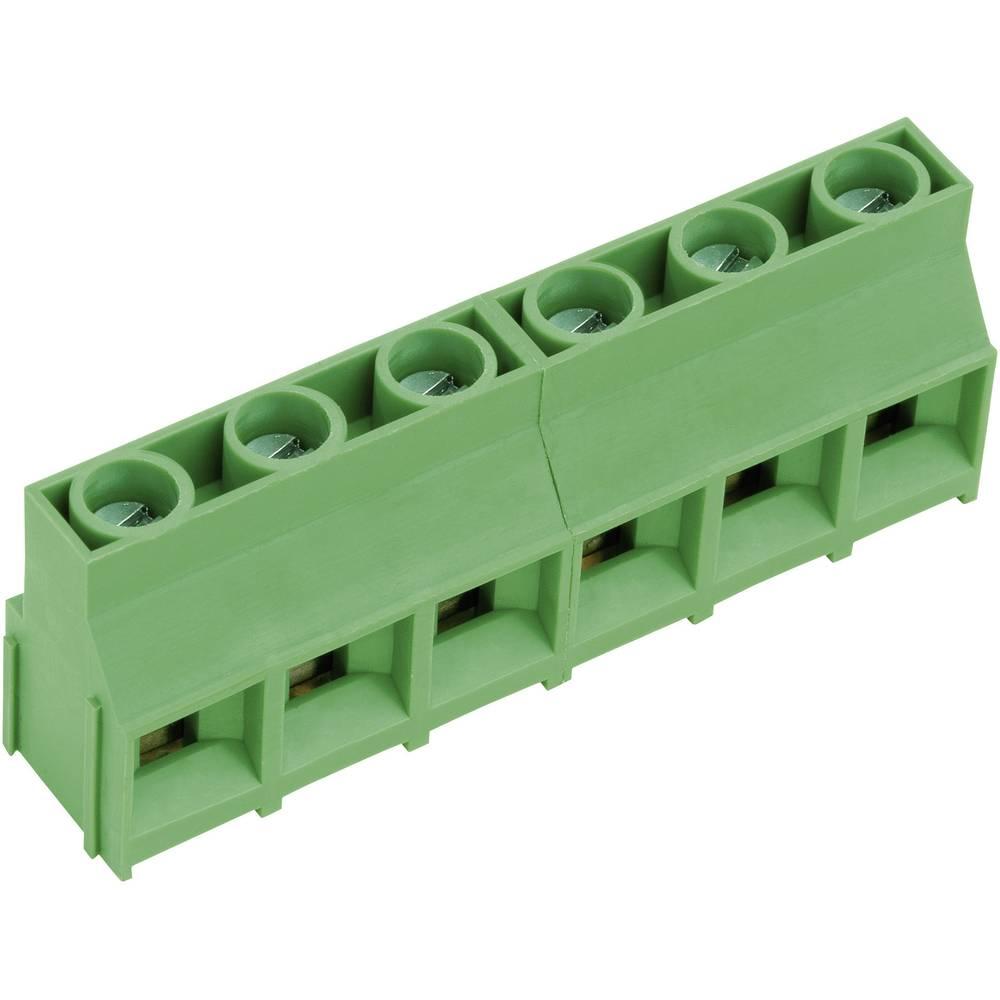 Skrueklemmeblok PTR AKZ841/10-9.52-V 4.00 mm² Poltal 10 Grøn 1 stk