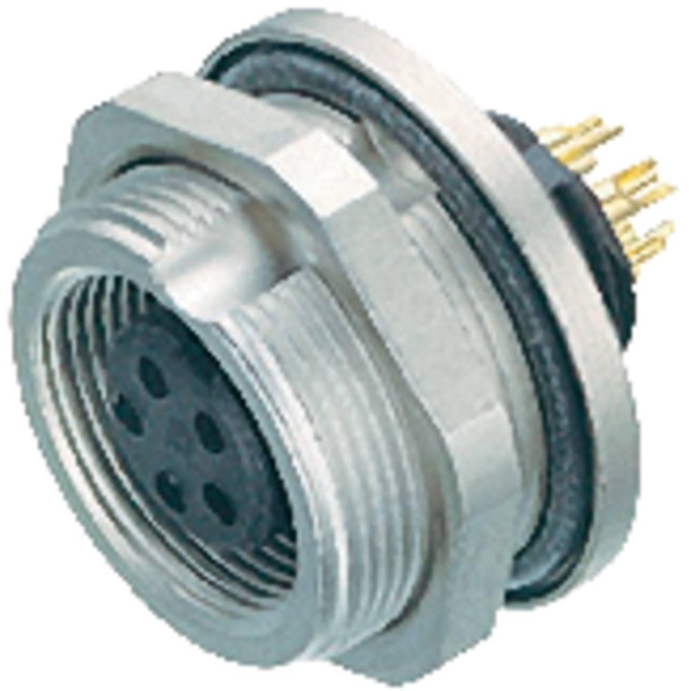 Mini okrogli konektor Binder serije 712, 09-0412-80-04, nazivni tok: 3 A, poli: 5, 1 kos