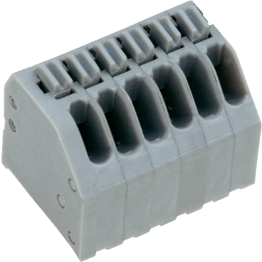 Fjederkraftsklemmeblok PTR AK4191/12KDVP-2.5 0.75 mm² Poltal 12 Kiselgrå 1 stk