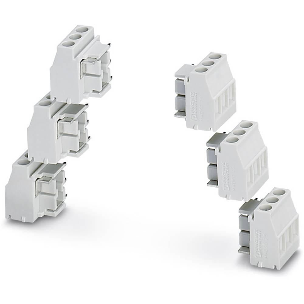 Skrueklemmeblok Phoenix Contact MKDSO 2,5/ 3-6 SET KMGY 2.50 mm² Poltal 3 Grå 1 stk