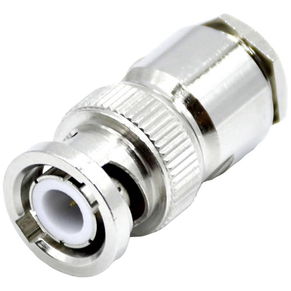BNC moški konektor SSB Aircell 7, raven, za privijanje, ponikljana medenina, spajkalni p. 7391
