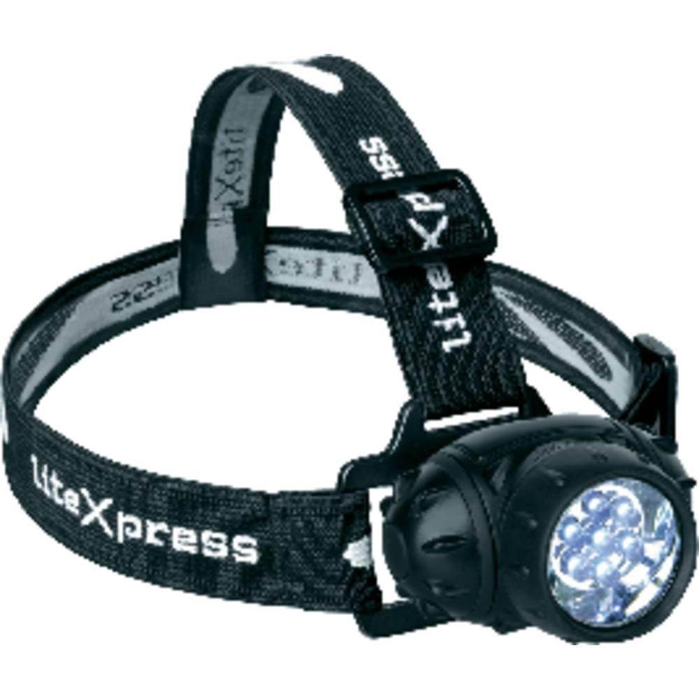 LED naglavna svetilka LiteXpress Liberty 102 baterijska 125 g črna LX202701