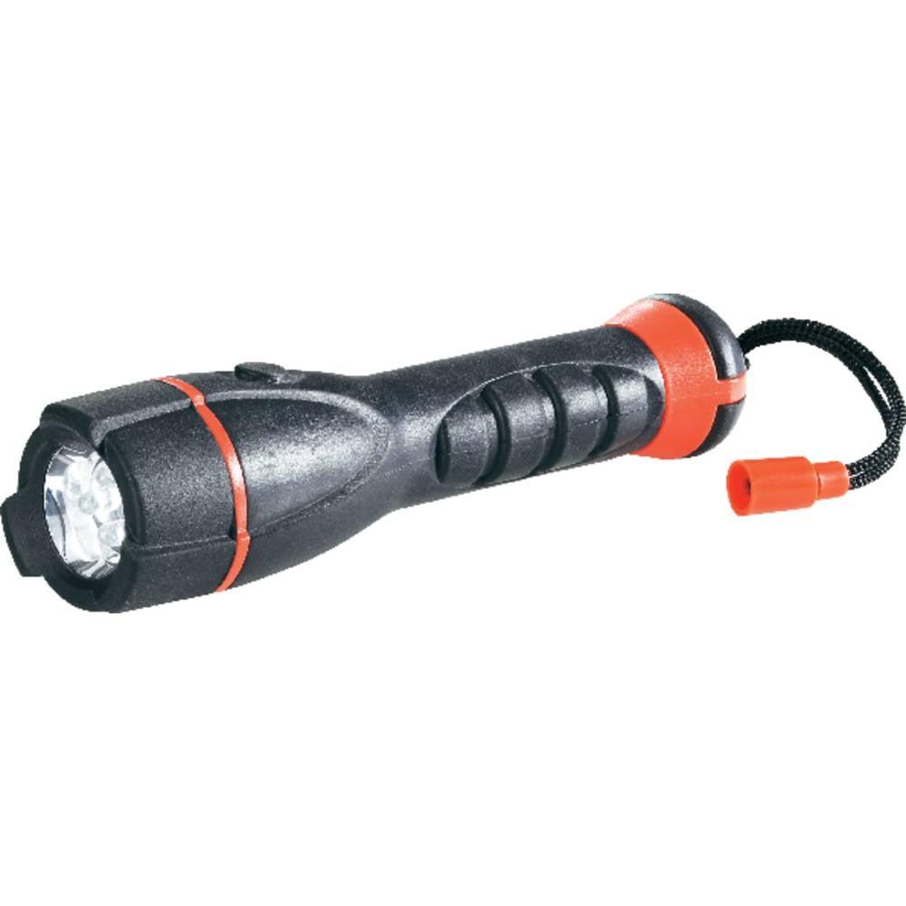 LED džepna svjetiljka Conrad Outdoor 4 LED na baterije 121 g crna