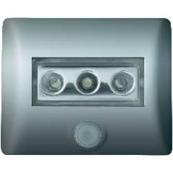 Nattlampa med rörelsedetektor LED OSRAM Nightlux Rektangulär Vit Silver
