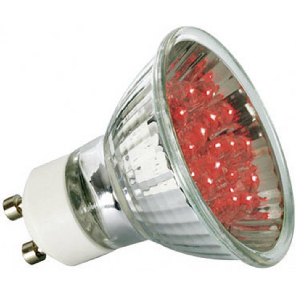 LED (enobarvna) Paulmann 230 V GU10 1 W rdeče barve EEK: A reflektor () 51 mm 1 kos