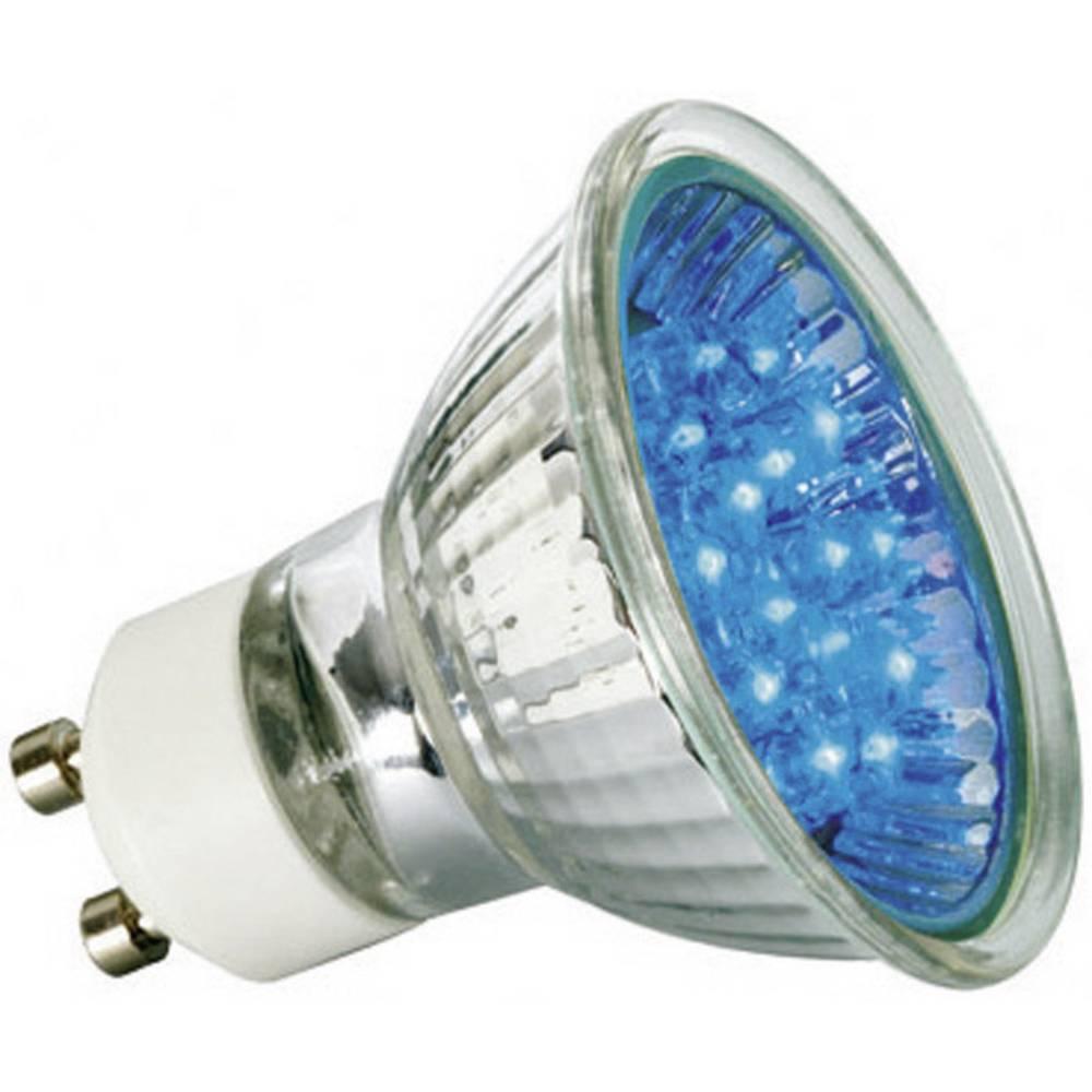LED (enobarvna) Paulmann 230 V GU10 1 W modre barve EEK: A reflektor ( x L) 51 mm x 55 mm 1 kos
