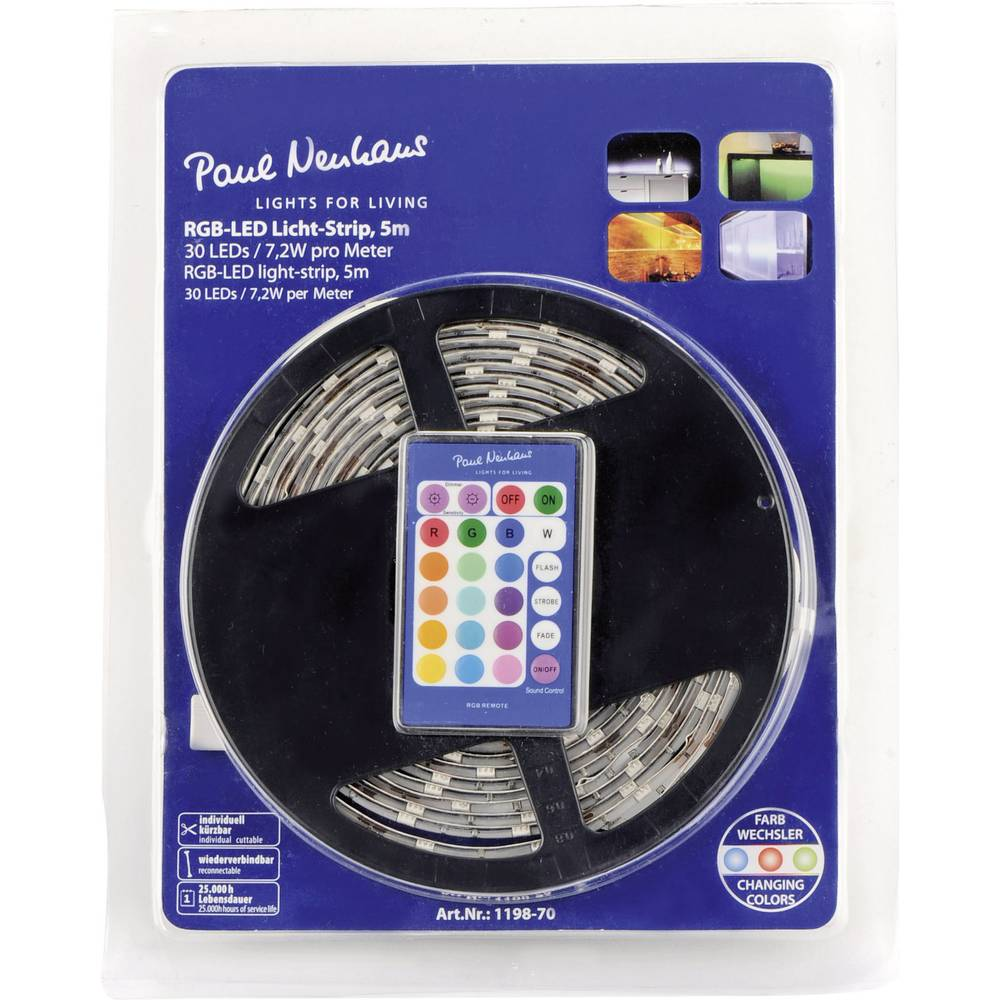 Unutarnje svjetlo za dekoraciju LED traka Paul Neuhaus 1198-70, 5 m, 28 W, LED