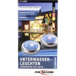 Unterwasserbeleuchtung (value.1291100) Ansmann Aqua Light LED Sølv, Hvid Sæt med 2 stk.