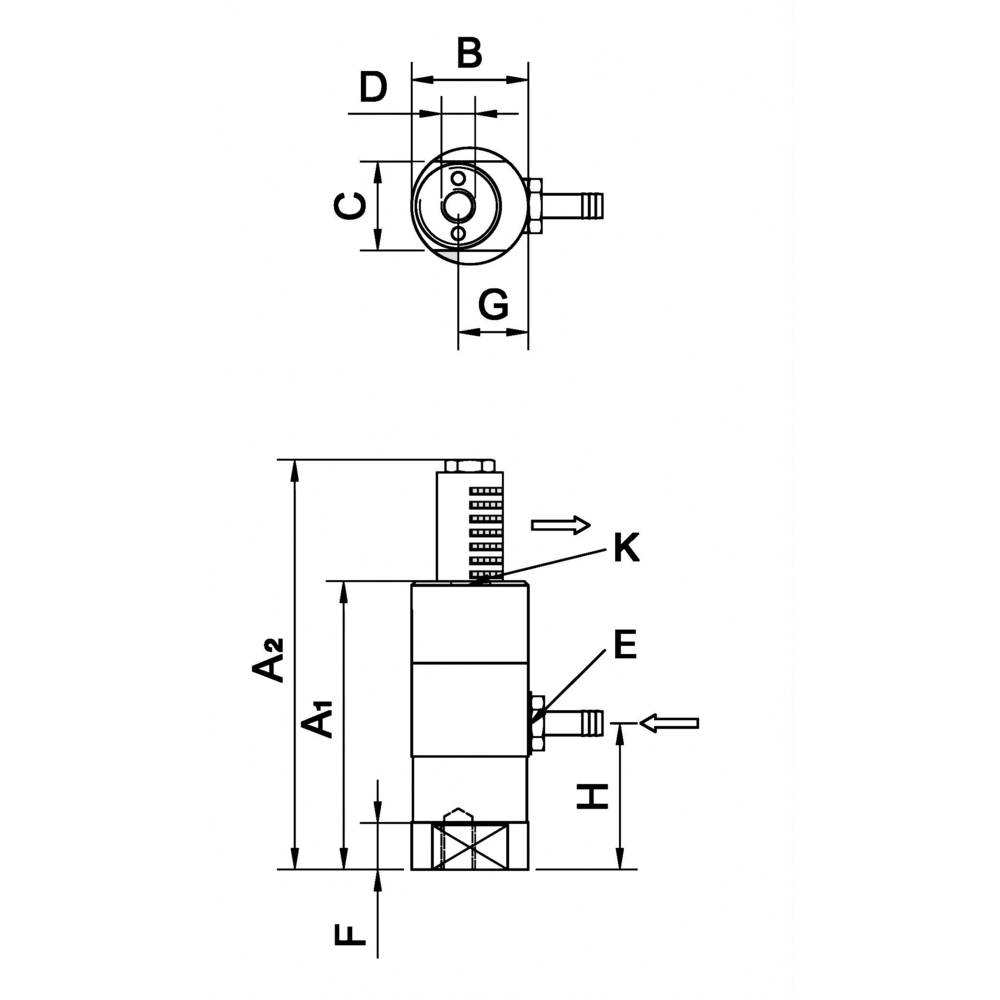 Netter Vibration NTS 250 HF-Batni vibrator, centrifugalna sila (6 bara): 346N, nominalna frekvencija (6 bara): 5773Hz