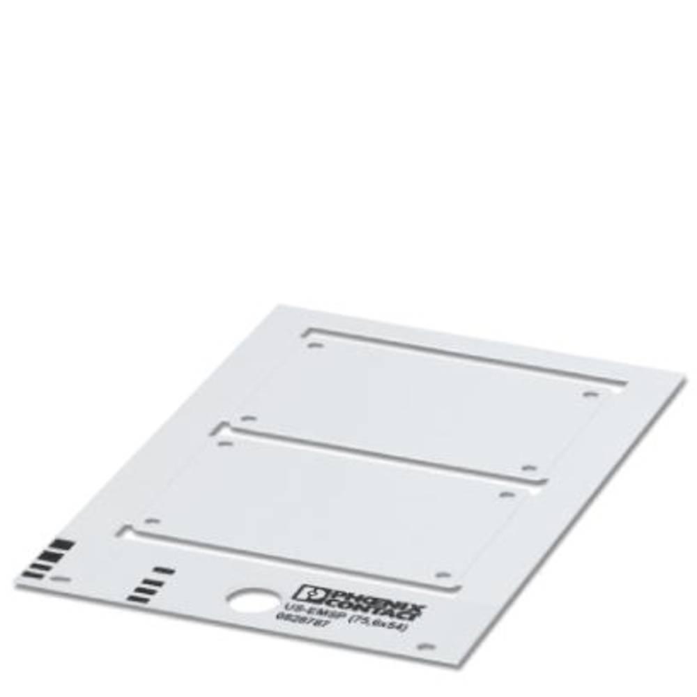 Označevalnik naprav, montaža: vijačna, zakovice, površina: 74.50 x 53.70 mm primeren za serijo module in stikalno opremo, bele b