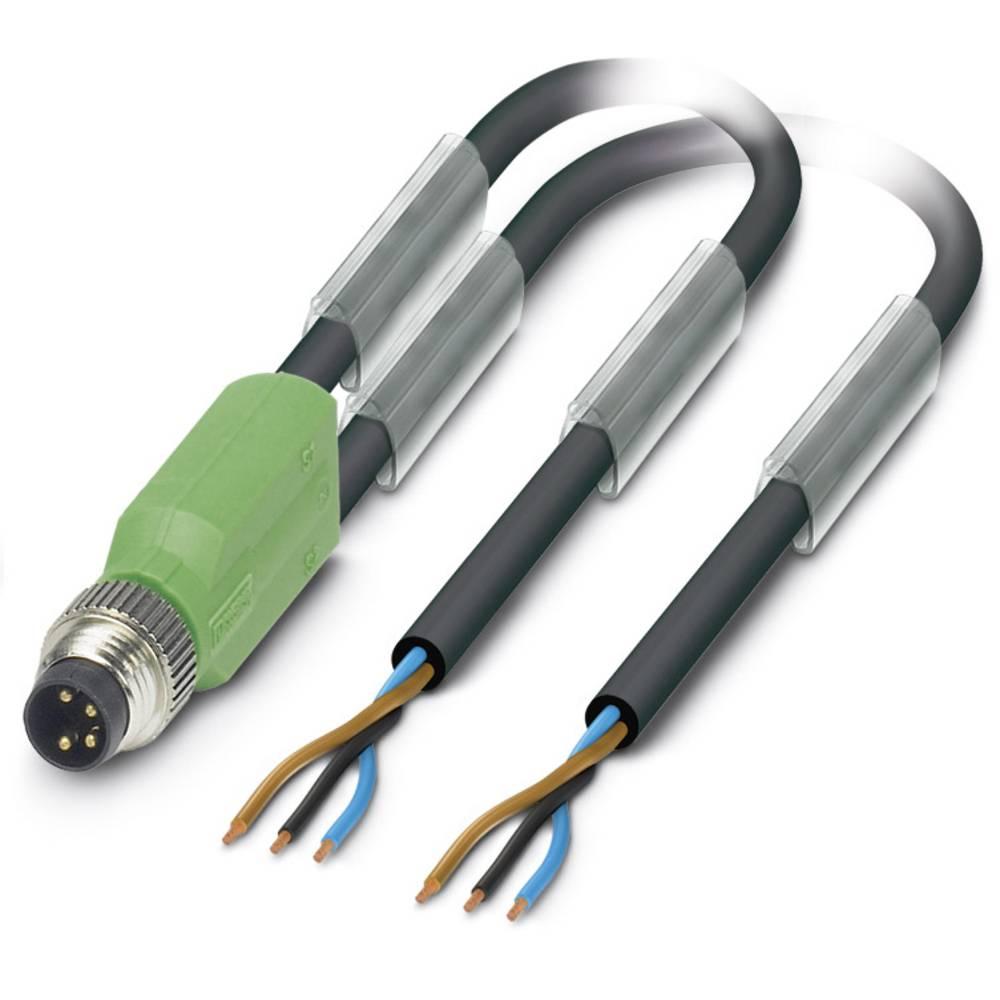 Sensor-, aktuator-stik, Phoenix Contact SAC-3P-M8Y/2X 5,0-PUR 1 stk