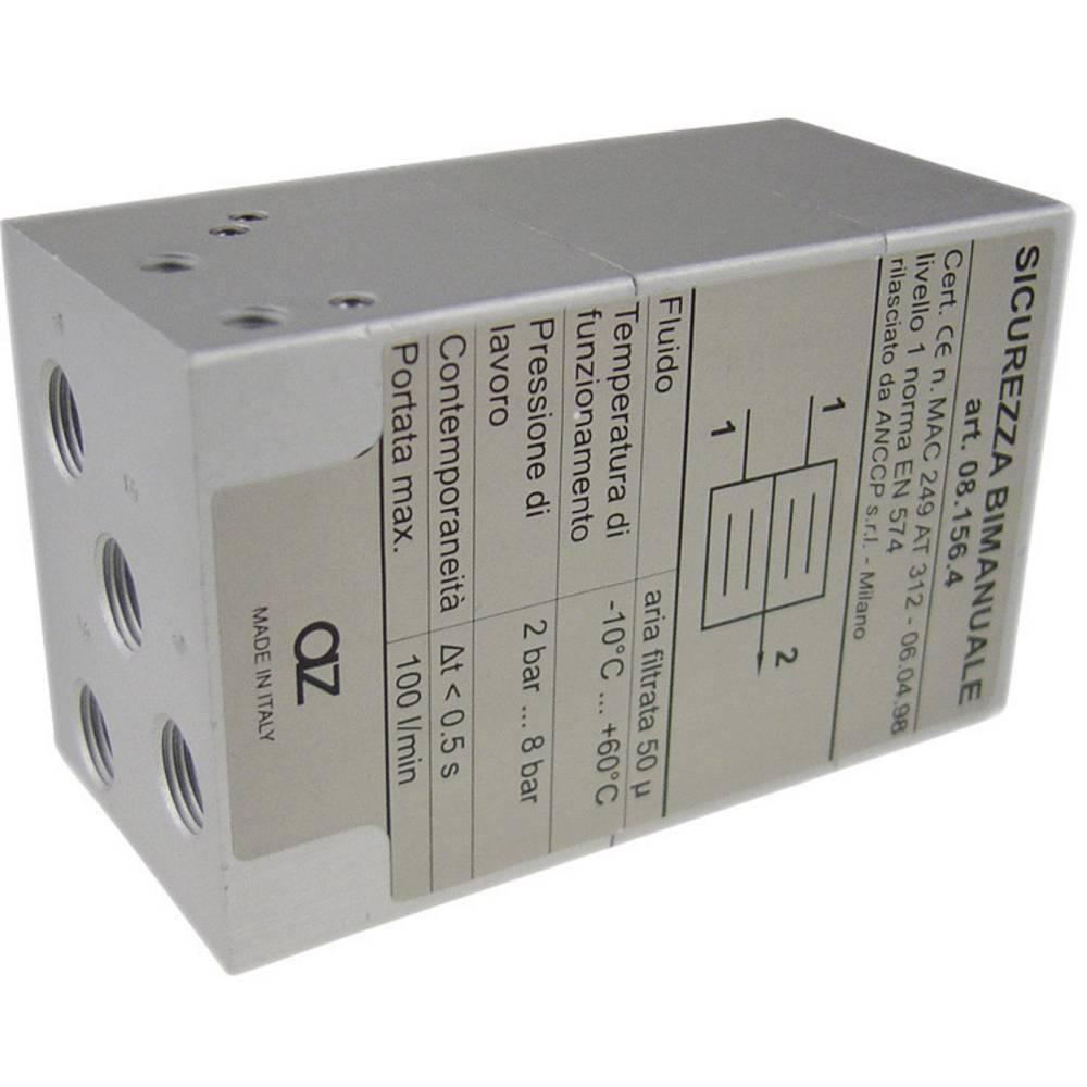 AZ Pneumatik AZ08.156.04-Dvoročni varnostni ventil, priključek: G1/8