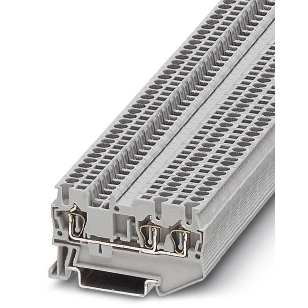 Feed-through terminal block ST 1,5-TWIN RD Phoenix Contact ST 1,5-TWIN RD Rød 50 stk