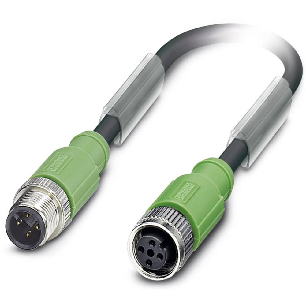Sensor-, aktuator-stik, Phoenix Contact SAC-4P-M12MS/ 3,0-PUR/M12FS SH 1 stk