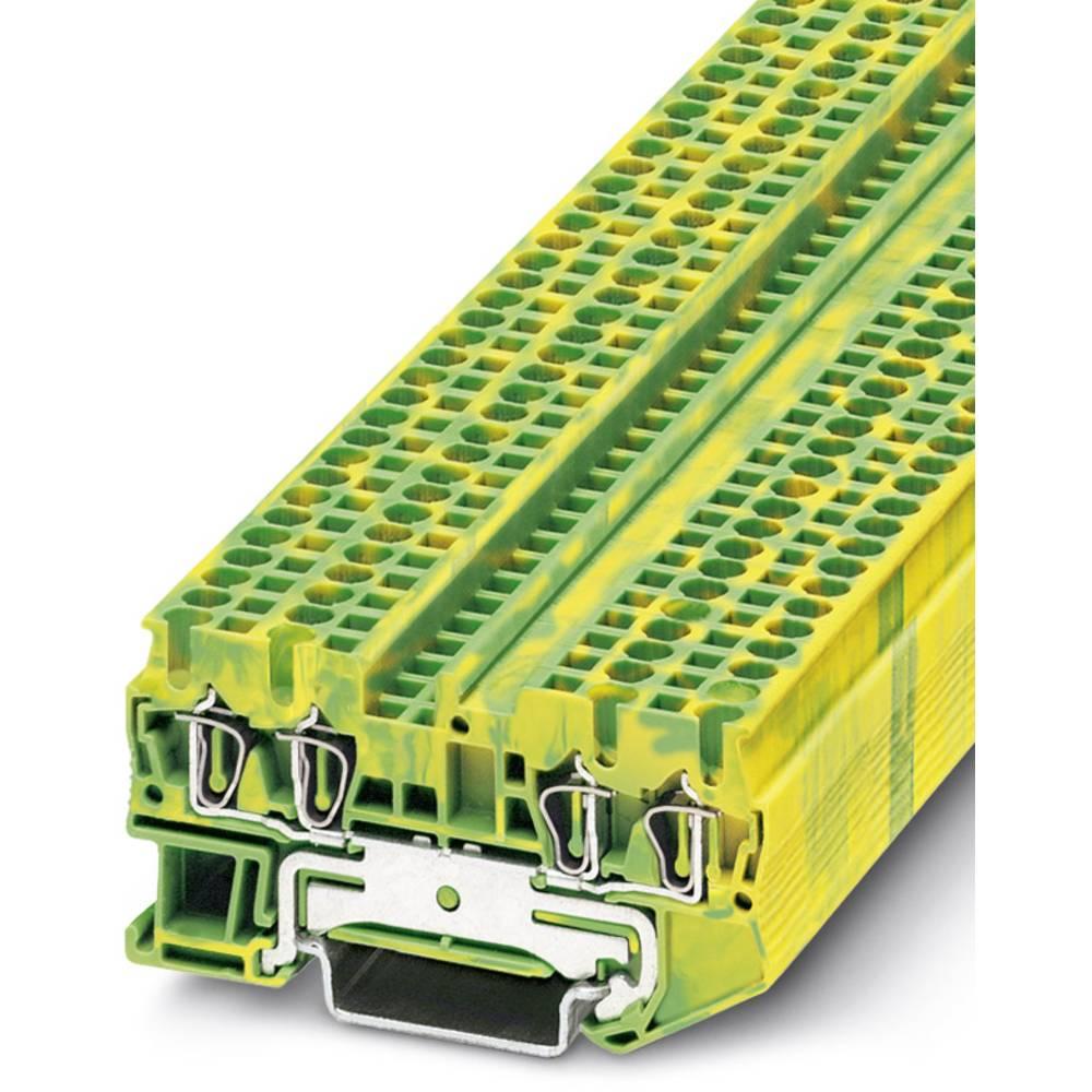ST 2,5-QUATTRO-PE - beskyttelsesleder klemrække Phoenix Contact ST 2,5-QUATTRO-PE Grøn-gul 50 stk