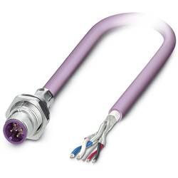 Sensor/ställdon-kontaktdon M12 Kontakt hane inbyggd 1 m Antal poler (RJ): 5 Phoenix Contact 1534436 SACCBP-M12MS-5CON-M16/1,0-92