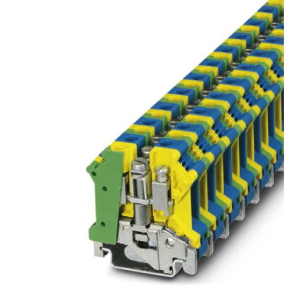 UK 10 N-PE / N - beskyttelsesleder klemrække Phoenix Contact UK 10 N-PE/N Grøn-gul-blå 10 stk