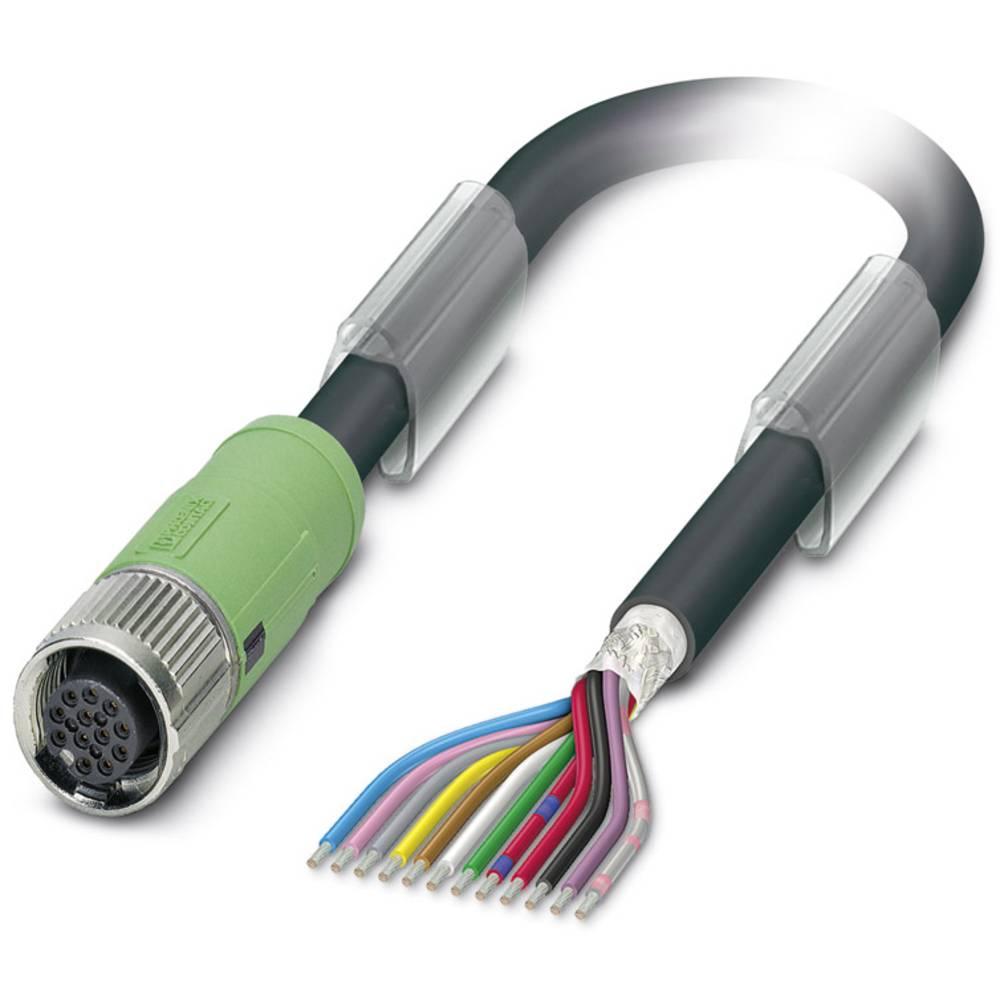 Sensor-, aktuator-stik, M12 Tilslutning, lige 1.50 m Pol-tal (RJ): 12 Phoenix Contact 1430129 SAC-12P- 1,5-35T/FS SH SCO 1 stk