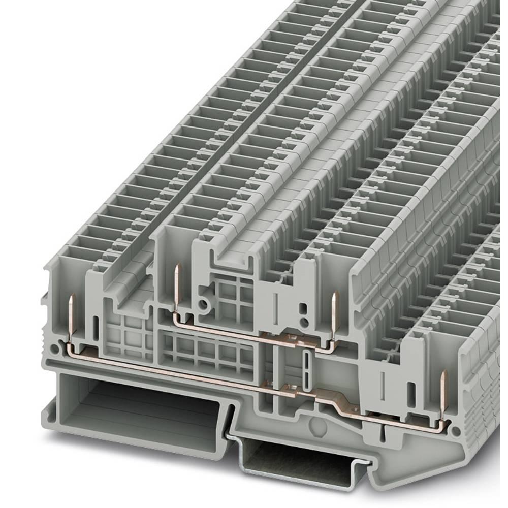 STTB 2.5 / 4P - toetages terminal Phoenix Contact STTB 2,5/4P Grå 50 stk