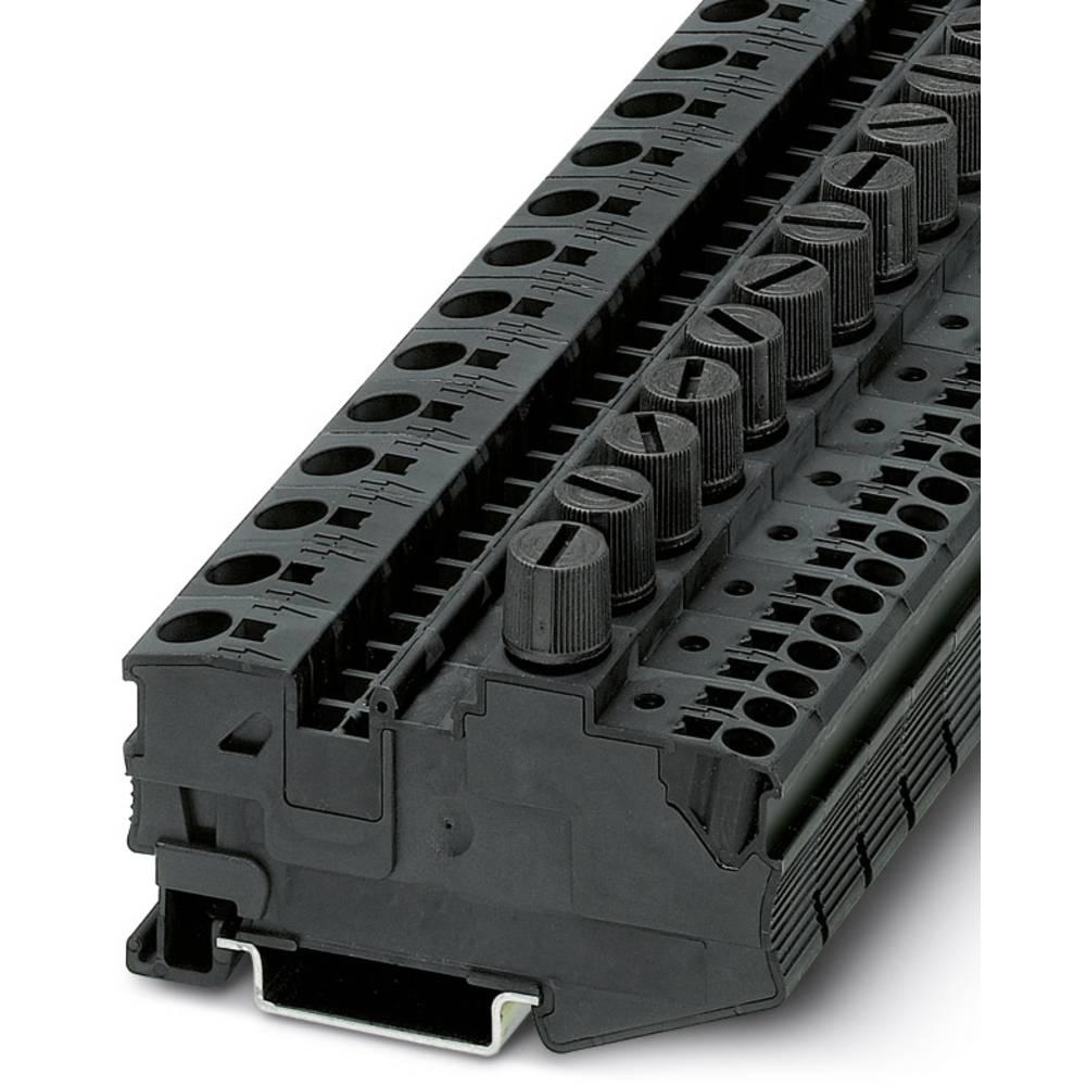 DT 6 / 2,5 DREHSI (5X20) - fuse terminal Phoenix Contact DT 6/2,5-DREHSI (5X20) Sort 25 stk