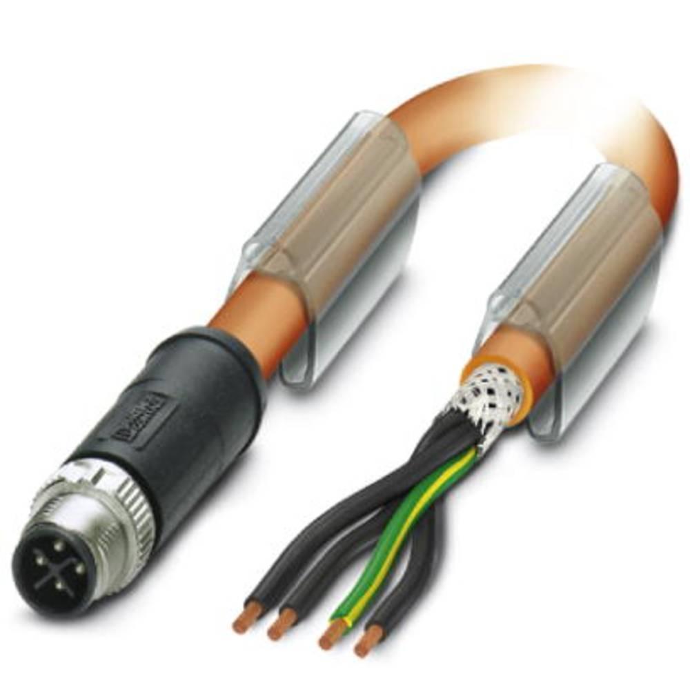 Sensor- /aktor-tilslutningsledning M12 Stik, lige 5 m Pol-tal (RJ): 4 Phoenix Contact 1424245 SAC-4P-MSS/ 5,0-PUR PE SH SCO 1 st