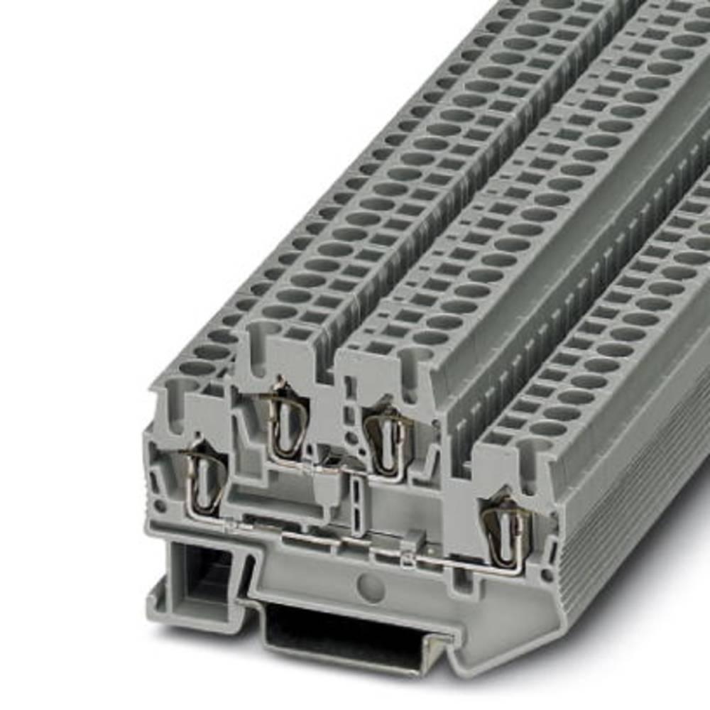 Feed-through terminal block STTB 2,5 Phoenix Contact STTB 2,5 Grå 50 stk