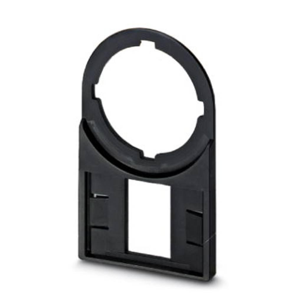 Nosilec oznak, montaža: vstavljanje, površina: 27 x 15 mm primeren za serijo gumbi in stikala 22 mm črne barve Phoenix Contact C