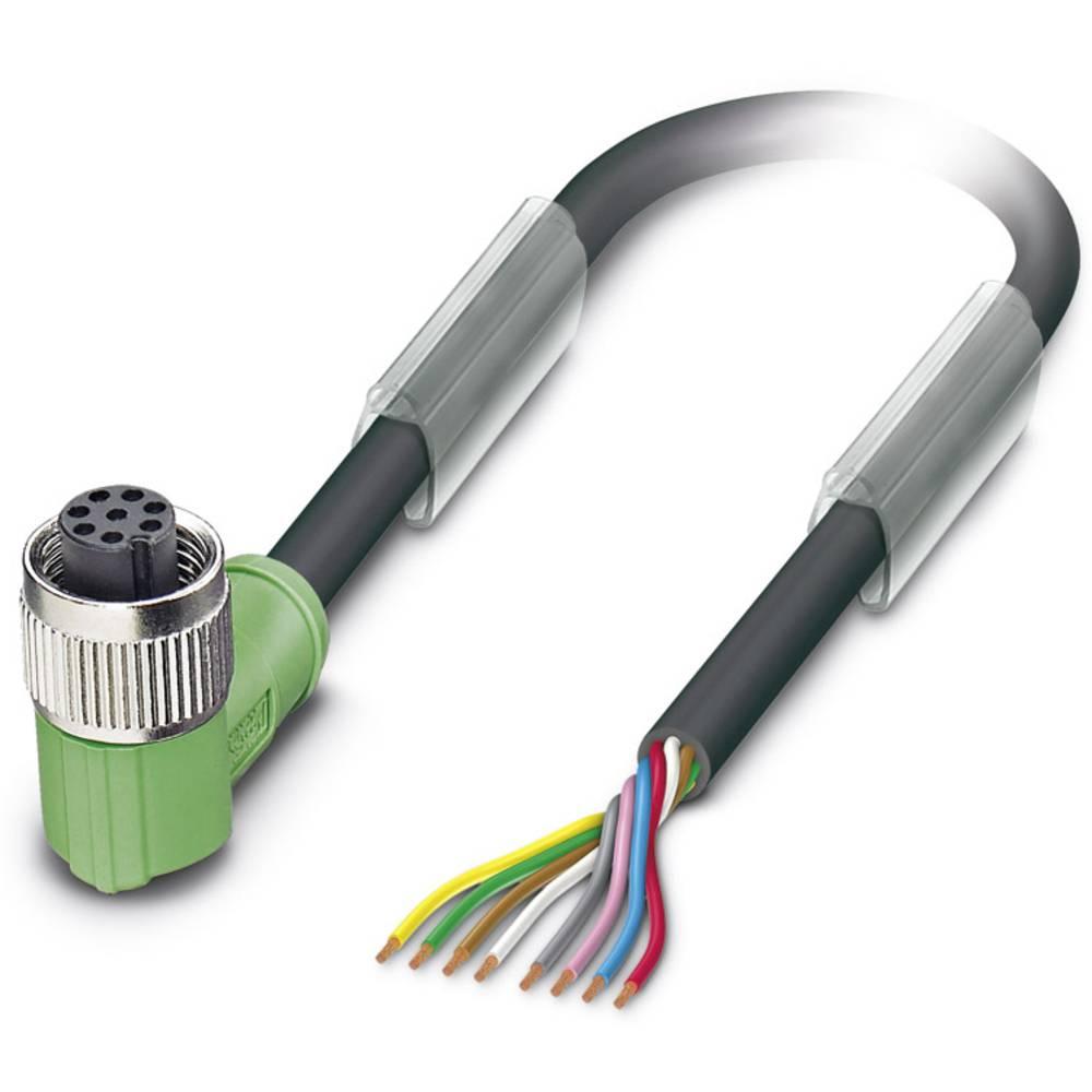 Sensor-, aktuator-stik, M12 Tilslutning, vinklet 1.50 m Pol-tal (RJ): 8 Phoenix Contact 1522626 SAC-8P- 1,5-PUR/M12FR 1 stk