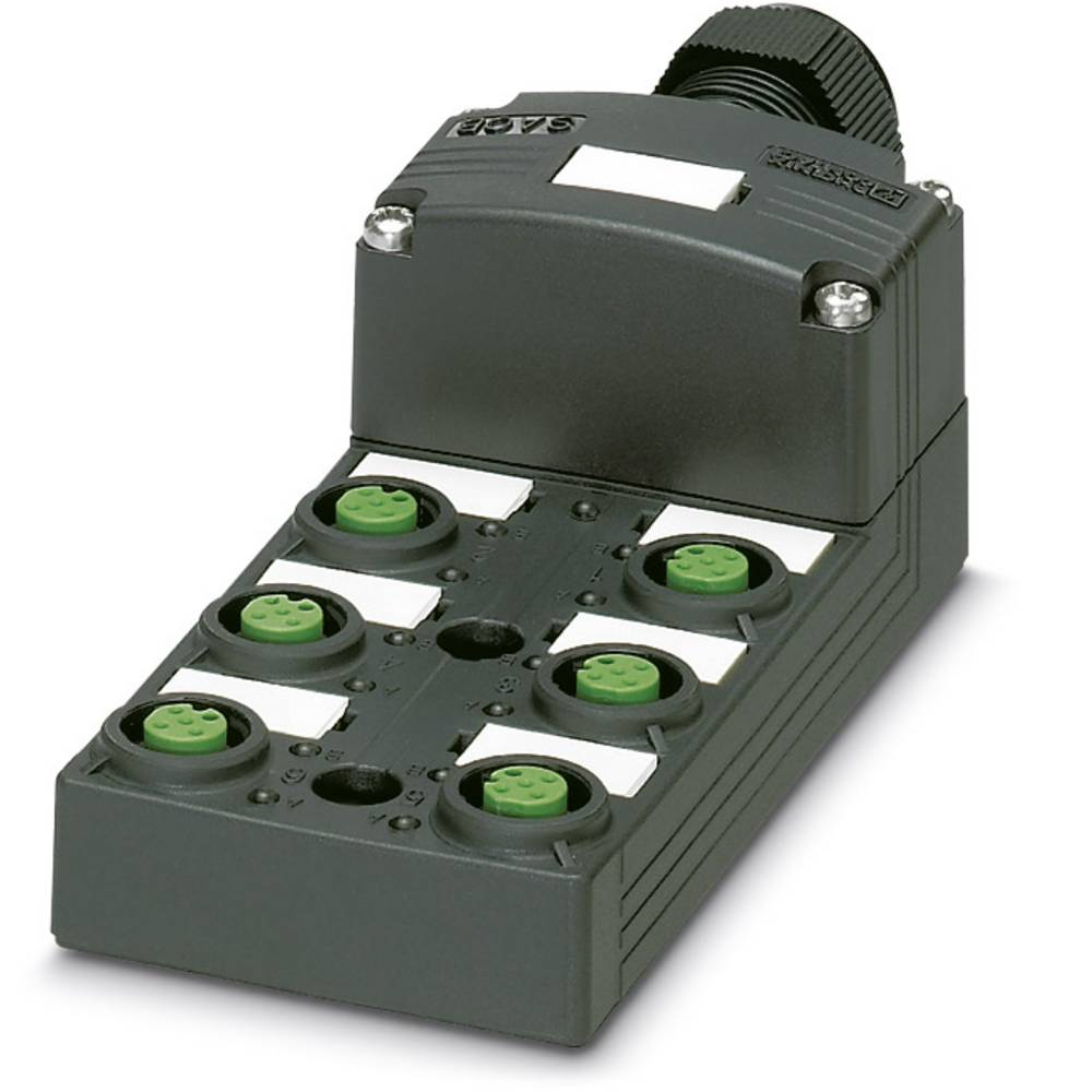 Sensor/aktorbox passiv M12-fordeler med kunststofgevind SACB-6/ 6-C SCO P 1452767 Phoenix Contact 1 stk