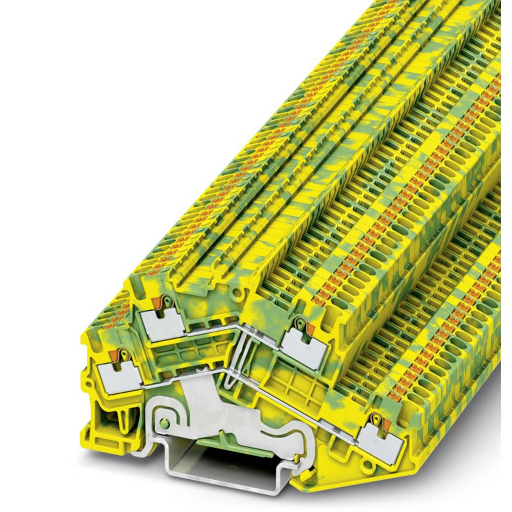 PTTBS 1.5 / S-PE - beskyttelsesleder dobbeltdækker terminal Phoenix Contact PTTBS 1,5/S-PE Grøn-gul 50 stk