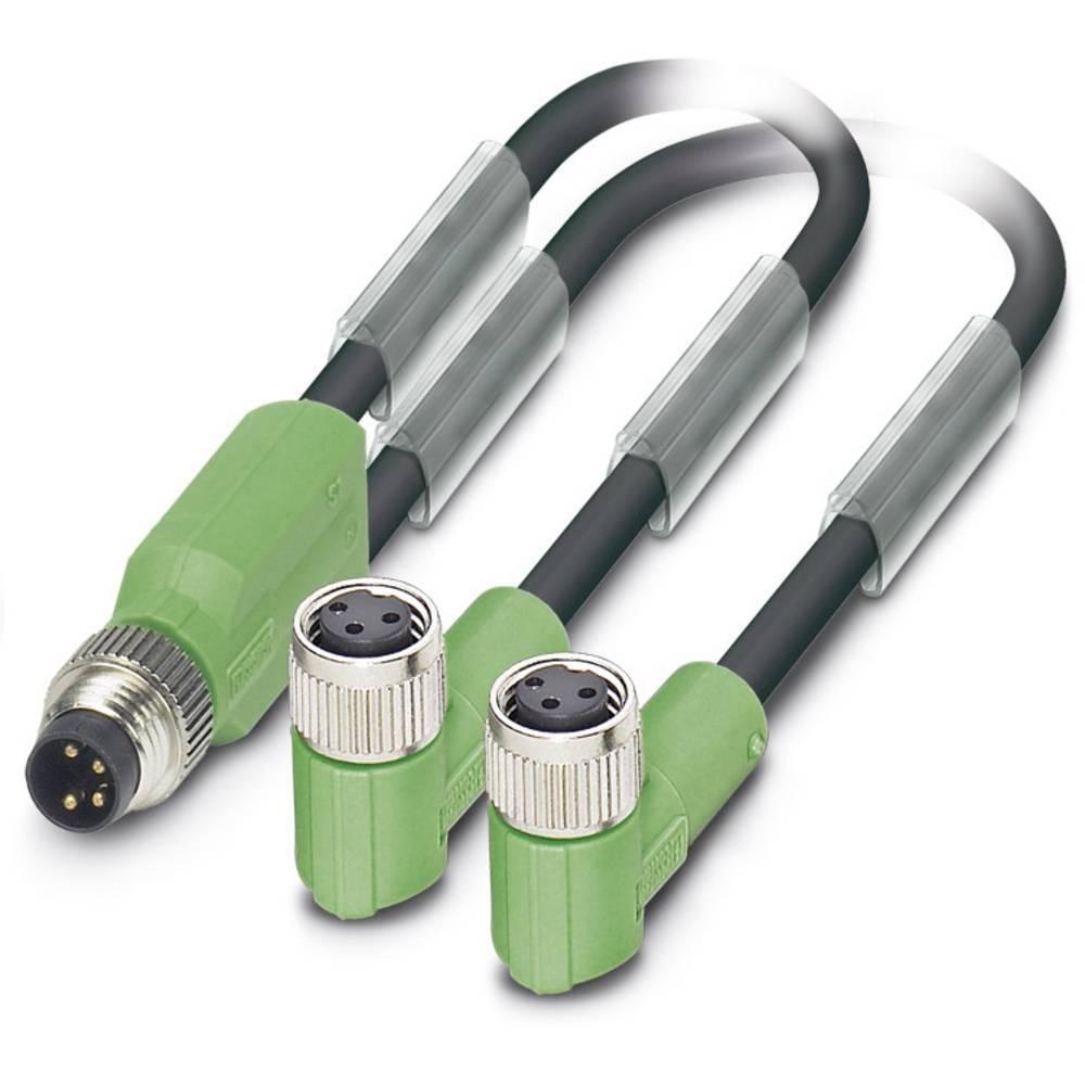 Sensor-, aktuator-stik, Phoenix Contact SAC-3P-M8Y/2X3,0-PUR/M 8FR 1 stk