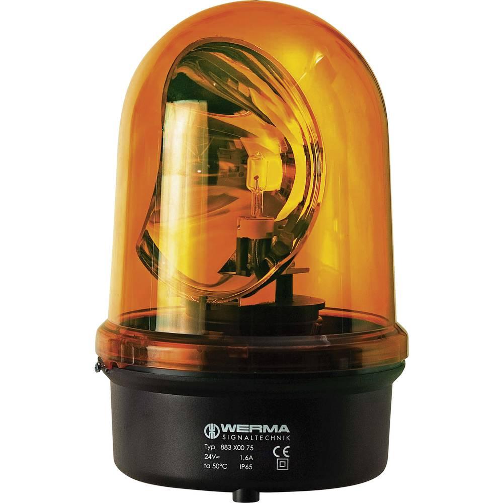 Werma Signaltechnik 883.300.75 Vrtljiva luč 24 V DC/AC, 1,6 A rumena, steklo