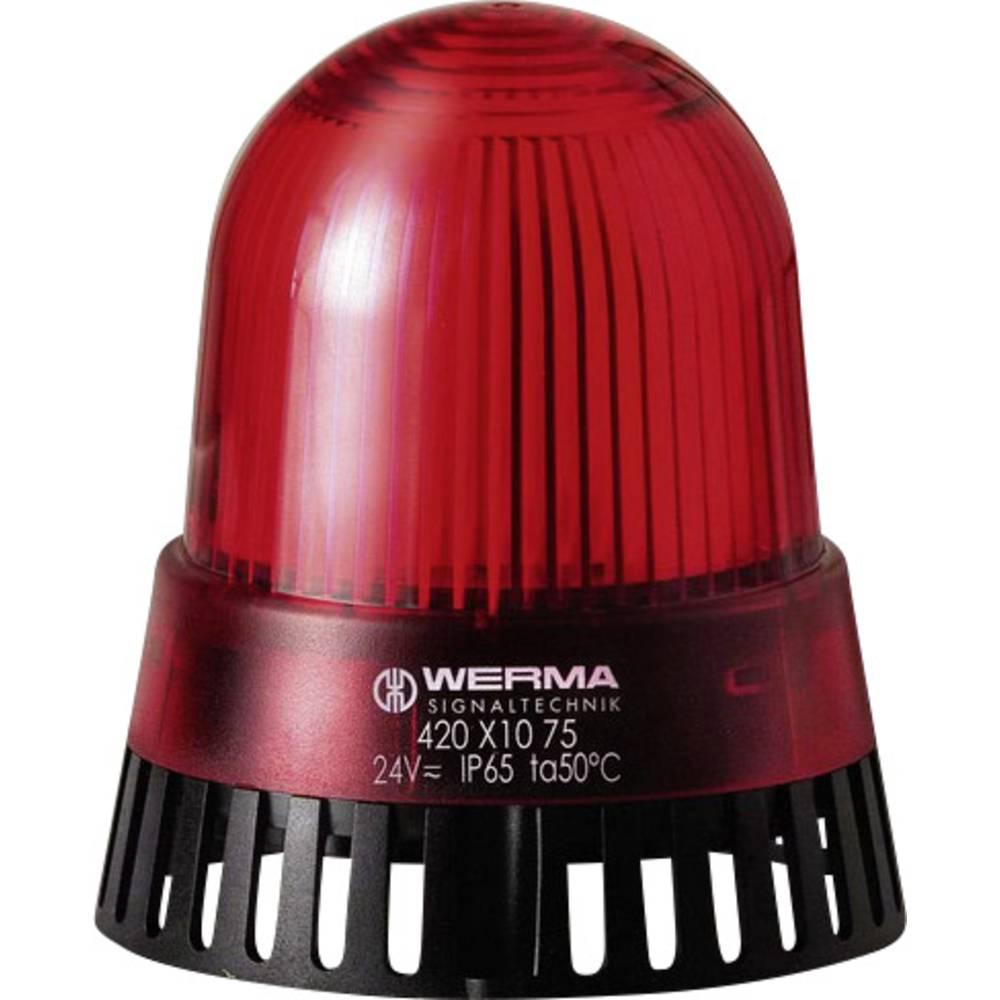 Werma Signaltechnik 420.110.68 LED luč/Brenčalo 230 V/AC, 50 mA, rdeča IP 65