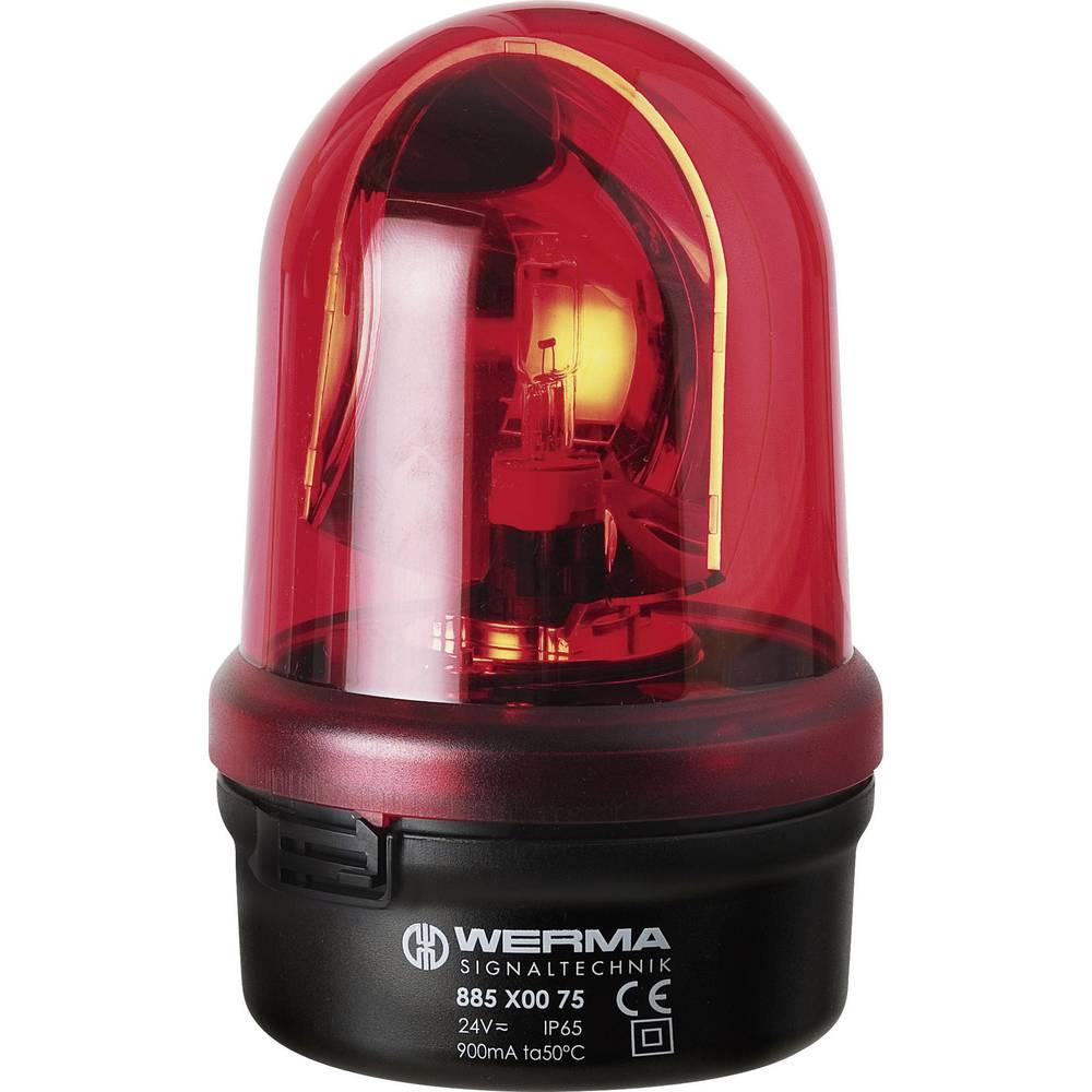 Werma Signaltechnik 885.100.75 Signalna luč/vrtljiva BM 24 V DC/AC, 1 A, rdeča